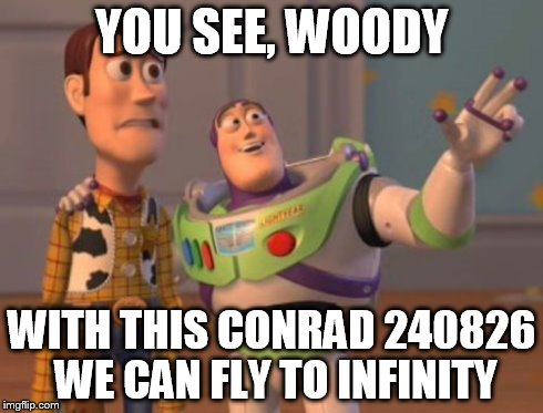 X, X Everywhere Meme | YOU SEE, WOODY WITH THIS CONRAD 240826 WE CAN FLY TO INFINITY | image tagged in memes,x x everywhere | made w/ Imgflip meme maker
