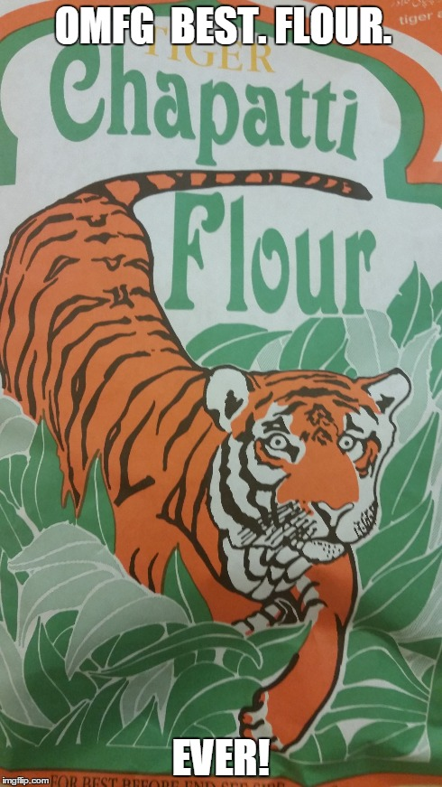 The flour tiger has seen some sheit man... | OMFG  BEST. FLOUR. EVER! | image tagged in flour,tiger,crazyeyes | made w/ Imgflip meme maker