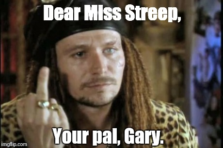 Dear Miss Streep, Your pal, Gary. | image tagged in gary oldman,meryl streep,actor,movie,true romance,oscar | made w/ Imgflip meme maker