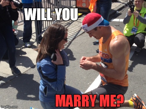 WILL YOU MARRY ME? | WILL YOU MARRY ME? | image tagged in fun run,proposal | made w/ Imgflip meme maker