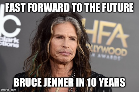 FAST FORWARD TO THE FUTURE BRUCE JENNER IN 10 YEARS | image tagged in kim kardashian,transform,women,woman | made w/ Imgflip meme maker