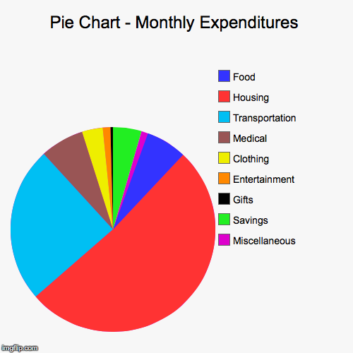 pie chart monthly expenditures imgflip