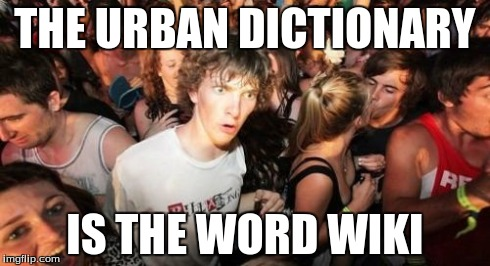 Sudden Clarity | THE URBAN DICTIONARY IS THE WORD WIKI | image tagged in memes,sudden clarity clarence,urban dictionary,word wiki,word,wiki | made w/ Imgflip meme maker