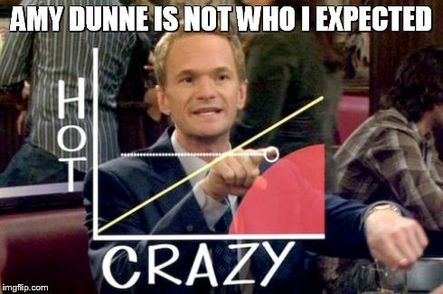 Hot Scale Meme | AMY DUNNE IS NOT WHO I EXPECTED | image tagged in memes,hot scale,neil patrick harris,gone girl,barney stinson,how i met your mother | made w/ Imgflip meme maker