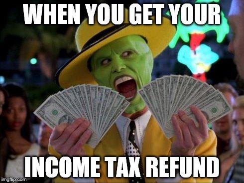 hlycm money money meme imgflip,Tax Refund Memes