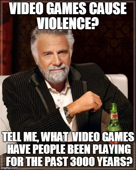 Violent video games - Imgflip