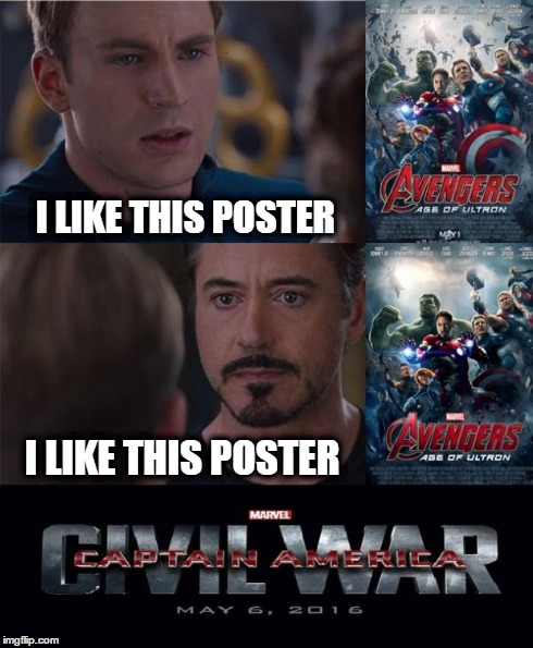POSTER  image tagged in marvel civil war  made w/ Imgflip meme maker