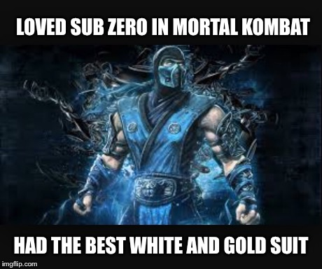 Dress Debate | LOVED SUB ZERO IN MORTAL KOMBAT HAD THE BEST WHITE AND GOLD SUIT | image tagged in dress,what color is this dress,blue and black,mortal kombat | made w/ Imgflip meme maker