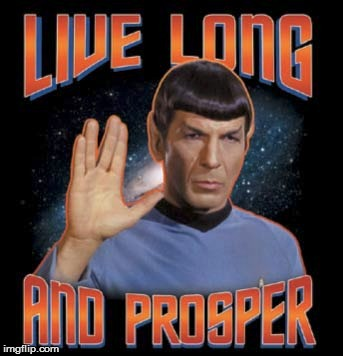 RIP Spock | image tagged in star trek | made w/ Imgflip meme maker