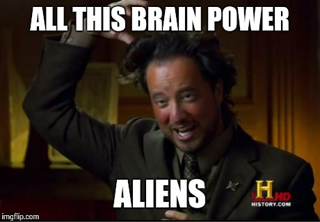 ALL THIS BRAIN POWER ALIENS | made w/ Imgflip meme maker