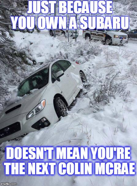 Subaru fail - Imgflip
