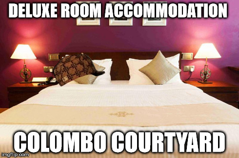 Deluxe Room Accommodation in Colombo | DELUXE ROOM ACCOMMODATION COLOMBO COURTYARD | image tagged in clombo,accommodation,hotel,courtyard,rooms,luxury hotel | made w/ Imgflip meme maker
