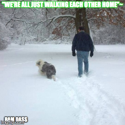 """We're all just walking each other home""~ 