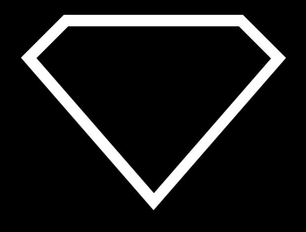 Superman Logo Blank Template