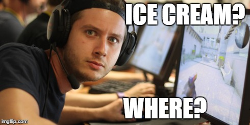 Maikelele | ICE CREAM? WHERE? | image tagged in memes,funny,ice cream,counterstrike | made w/ Imgflip meme maker