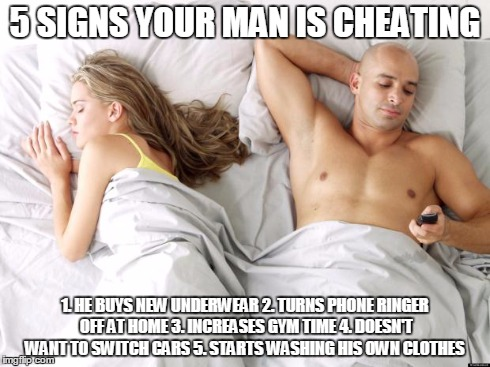 Signs of a man cheating on his girlfriend