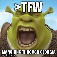 >TFW MARCHING THROUGH GEORGIA | made w/ Imgflip meme maker