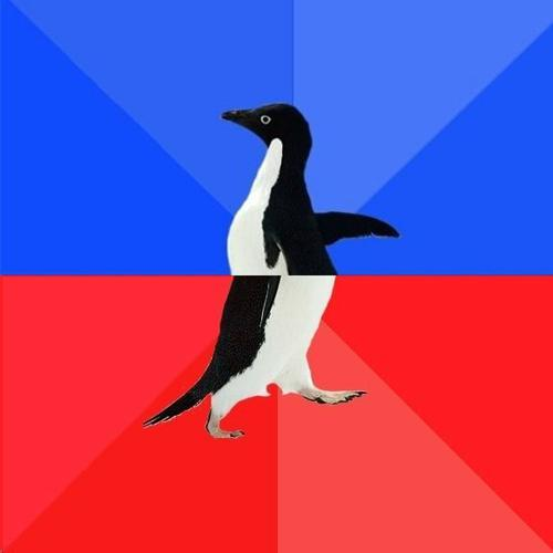 Socially awkward to socially awesome penguin Blank ...