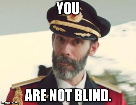 Captain Obvious | YOU ARE NOT BLIND. | image tagged in captain obvious | made w/ Imgflip meme maker
