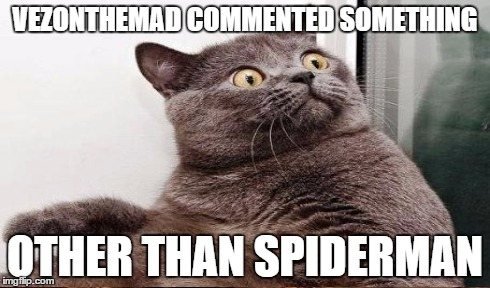 VEZONTHEMAD COMMENTED SOMETHING OTHER THAN SPIDERMAN | made w/ Imgflip meme maker