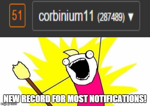 New Personal Record! :D | NEW RECORD FOR MOST NOTIFICATIONS! | image tagged in memes,x all the y,notifications,such wow,much many,so notification | made w/ Imgflip meme maker