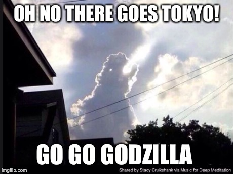 OH NO THERE GOES TOKYO! GO GO GODZILLA | image tagged in godzilla | made w/ Imgflip meme maker