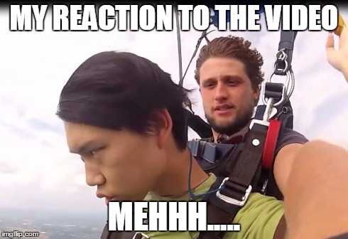 MY REACTION TO THE VIDEO MEHHH..... | image tagged in troll,reactions | made w/ Imgflip meme maker