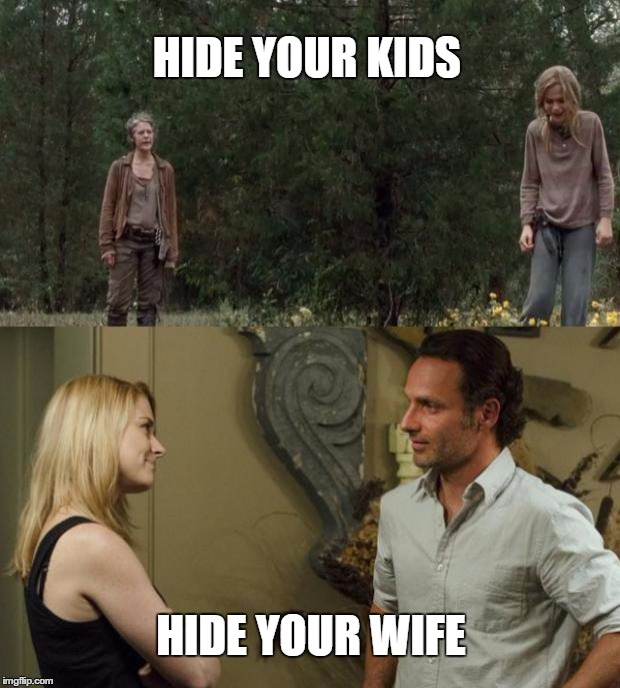 jjdi2 image tagged in twd carol and rick,the walking dead imgflip