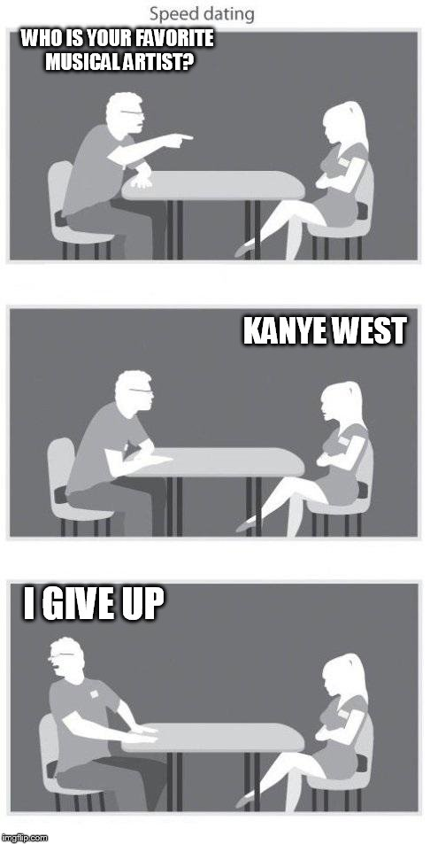 Given up on dating meme