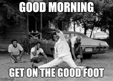 Image result for james brown i feel good meme