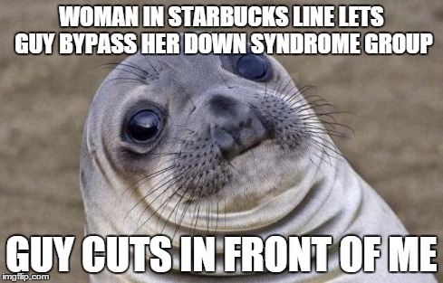 While in line at Starbucks