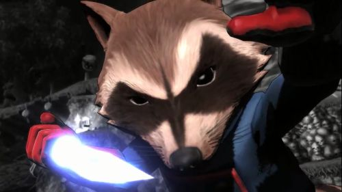 Rocket Raccoon Blank Meme Template