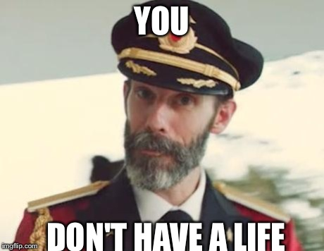 Captain Obvious | YOU DON'T HAVE A LIFE | image tagged in captain obvious | made w/ Imgflip meme maker