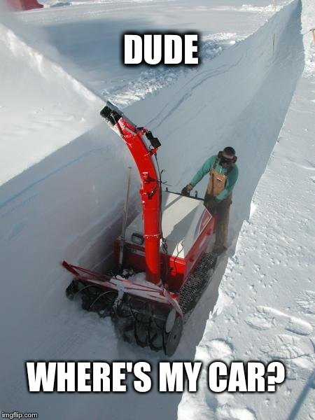 Worst Winter | DUDE WHERE'S MY CAR? | image tagged in snow,snow storm,snowpocalypse | made w/ Imgflip meme maker