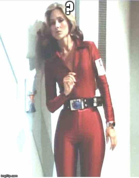 Erin Gray | ? | image tagged in erin gray | made w/ Imgflip meme maker
