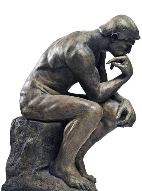 Thinking Man Statue Blank Template - Imgflip