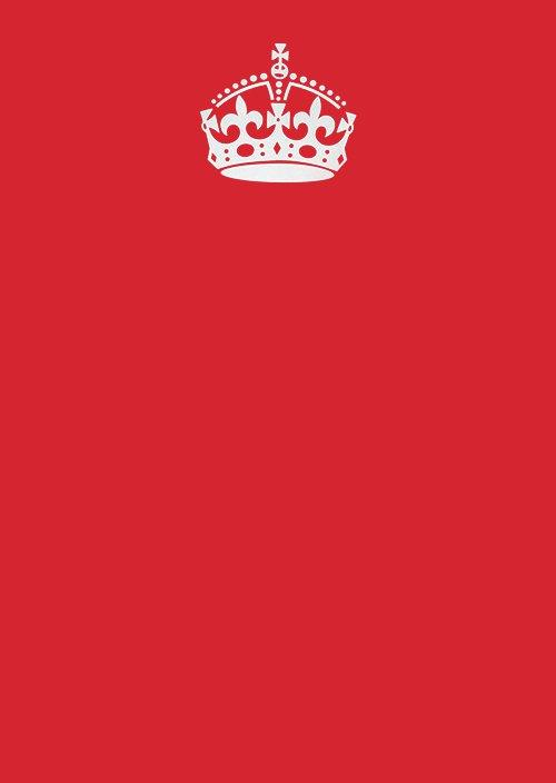 keep calm crown red