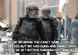 "Pissed off zomb...er, ""walkers.""  