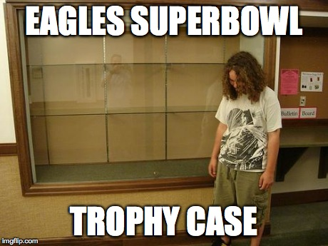 Eagles Superbowl Trophy Case