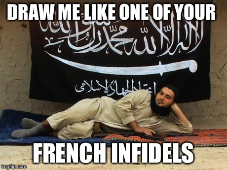 Islamic titanic | DRAW ME LIKE ONE OF YOUR FRENCH INFIDELS | image tagged in isis like a sunday morning,titanic,draw me like one of your french girls | made w/ Imgflip meme maker