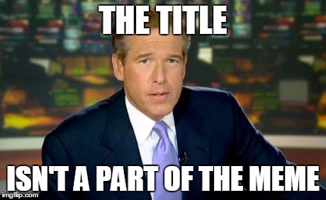 Brian Williams Was There Meme | THE TITLE ISN'T A PART OF THE MEME | image tagged in memes,brian williams was there | made w/ Imgflip meme maker
