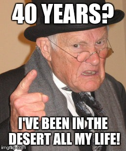 Back In My Day Meme | 40 YEARS? I'VE BEEN IN THE DESERT ALL MY LIFE! | image tagged in memes,back in my day | made w/ Imgflip meme maker