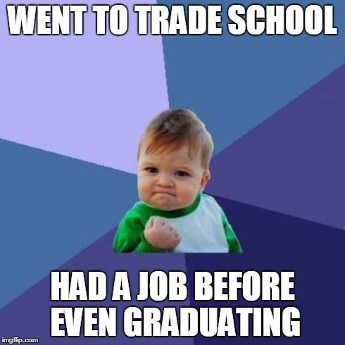 Went to trade school