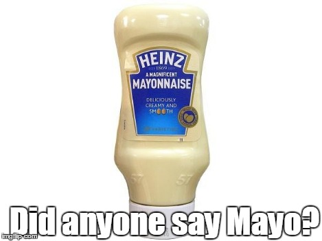 Did anyone say Mayo? | image tagged in mayonnaise | made w/ Imgflip meme maker