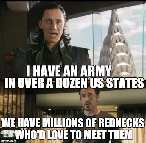 We have a Hulk | IN OVER A DOZEN US STATES WE HAVE MILLIONSOF REDNECKS WHO'D LOVE TO MEET THEM | image tagged in we have a hulk,memes | made w/ Imgflip meme maker