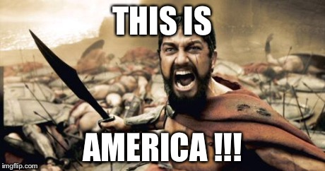 Sparta Leonidas Meme | THIS IS AMERICA !!! | image tagged in memes,sparta leonidas | made w/ Imgflip meme maker