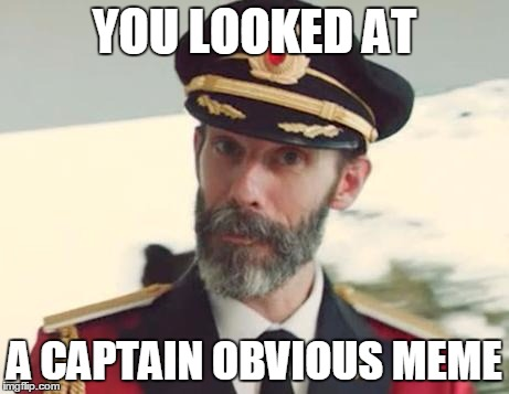 Captain Obvious | YOU LOOKED AT A CAPTAIN OBVIOUS MEME | image tagged in captain obvious | made w/ Imgflip meme maker