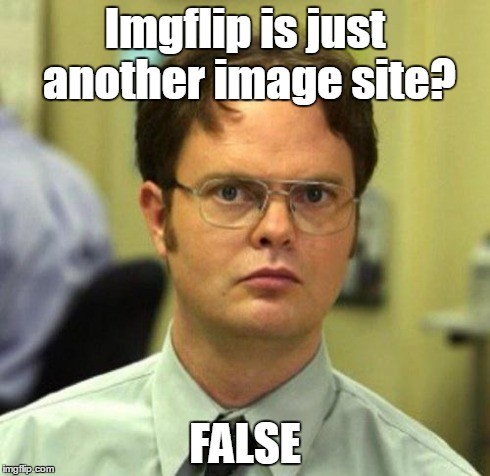Welcome new Imgflip useres! | Imgflip is just another image site? FALSE | image tagged in false | made w/ Imgflip meme maker