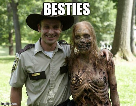 The Walking Dead Rick Grimes | BESTIES | image tagged in the walking dead rick grimes | made w/ Imgflip meme maker