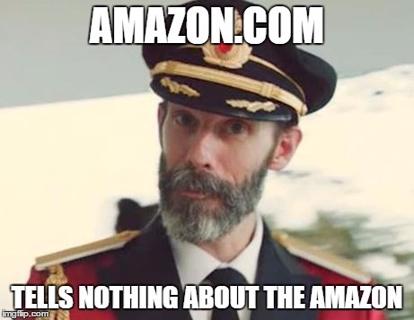 Captain Obvious | AMAZON.COM TELLS NOTHING ABOUT THE AMAZON | image tagged in captain obvious,amazon,memes | made w/ Imgflip meme maker